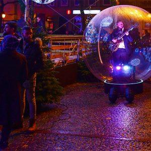 Un spectacle dans des bulles