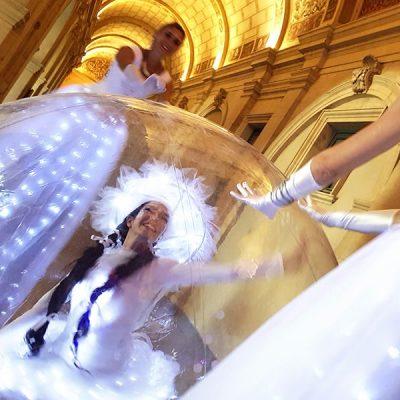 Les Welcome et les danseuse bulles au Palais Saint Pierre