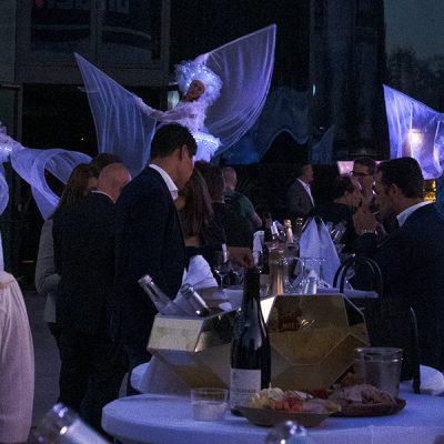 Cocktail avec Féérix, échassiers lumineux